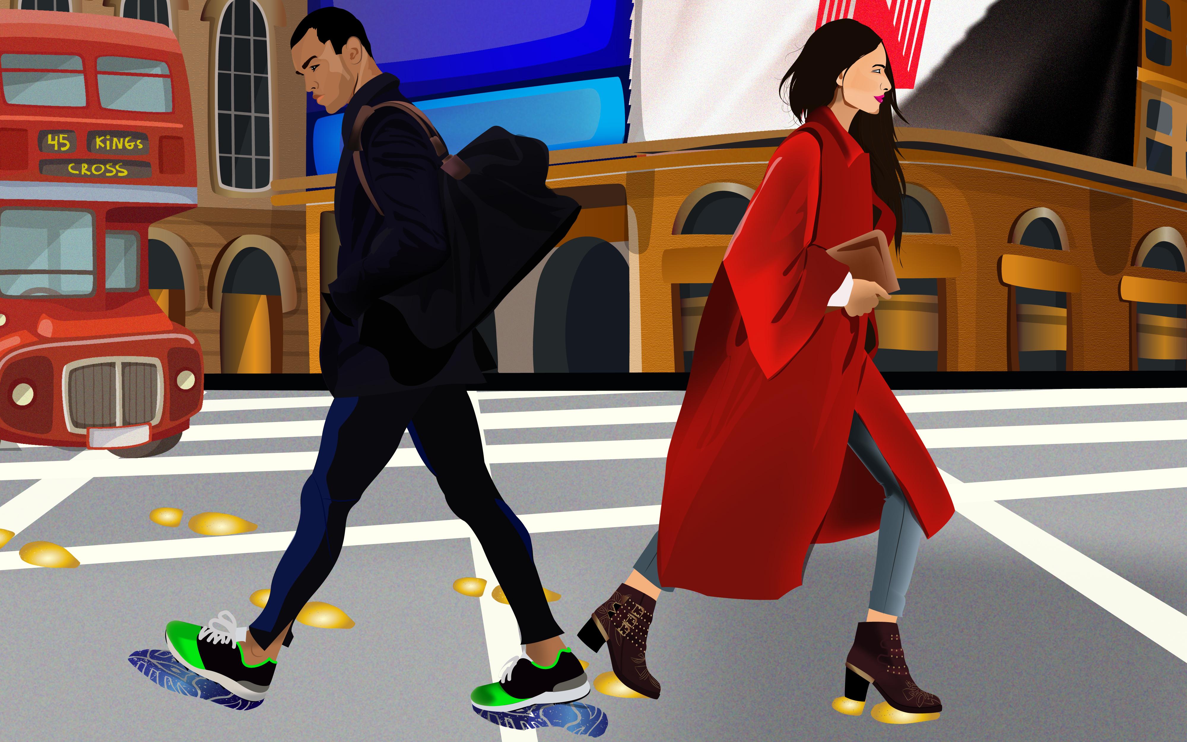 The Digital Footprint. Illustration: Gauri Kumar