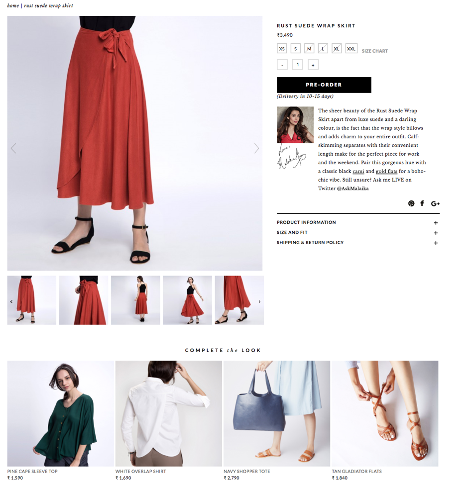 AI powered recommendations that help shoppers create ensembles (Source: thelabellife.com)