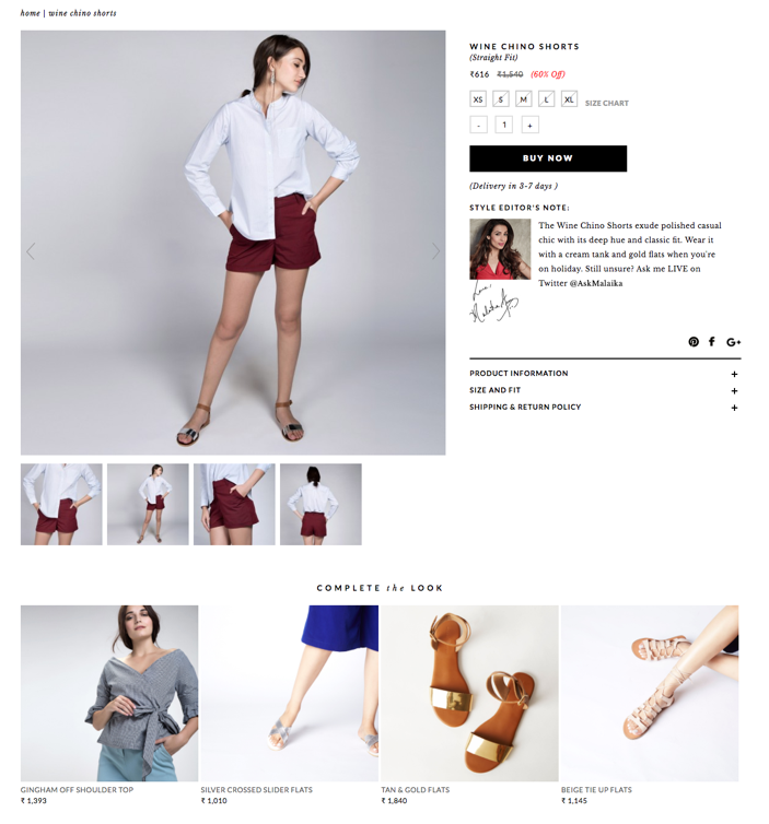 Recommend alternatives to the products within the image. For example, The Label Life provides alternatives to the shoes that the model is wearing in the product image. (Source: thelabellife.com)