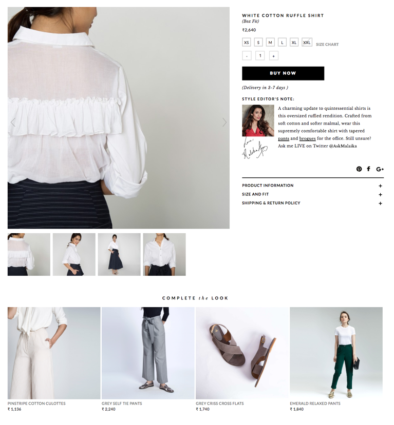 Wondering how versatile that white shirt is? The Ensemble Generator shows you a different pairing suggestion (Source: thelabellife.com)
