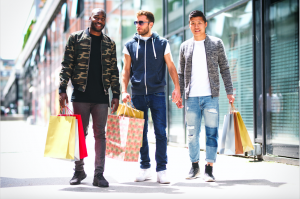 Evolution of the male shopper