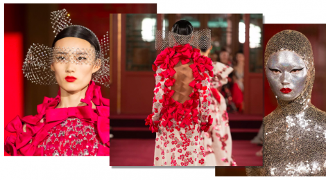 Valentino Spring 2020 haute couture 'DayDream' show in Beijing, China married the Italian spirit of the Renaissance with Chinese opulence.