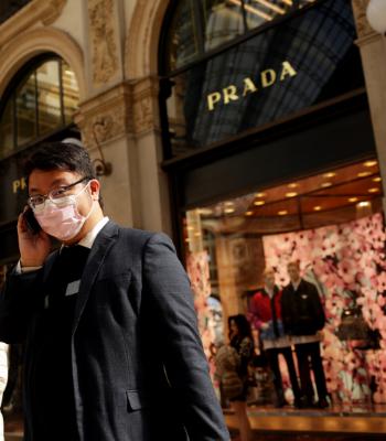 Coronavirus: Visitors at Milan Fashion Week in February