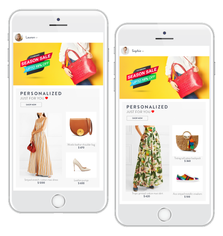 Personalized Recommendations for each shopper on the Homepage
