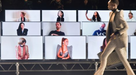 Digital fashion shows | Front row at Balmain RTW Spring 2021.