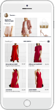 Personalized Recommendations for each shopper on the Category Page