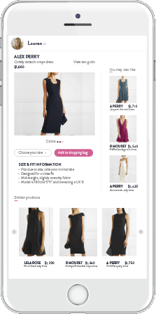Personalized Recommendations for each shopper on the Product Detail Page
