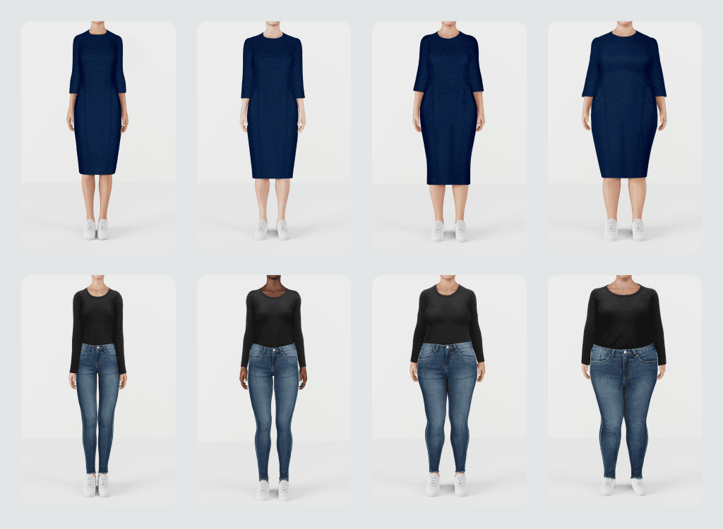AI powered model generated for customizable fashion imagery